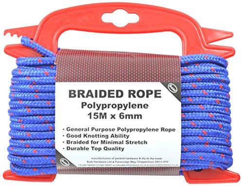 Bulk Hardware Polypropylen-Seil geflochten auf Handspule, 15m x 6mm
