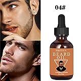 Igemy Huile à barbe, essence de 30ml, pour une croissance rapide et un épaississement de la barbe, moustache, sourcil