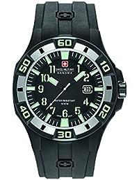 Reloj Cuarzo Swiss Military Para Hombre Con  Negro Analogico Y Negro Silicona 6-4292.27.007.07