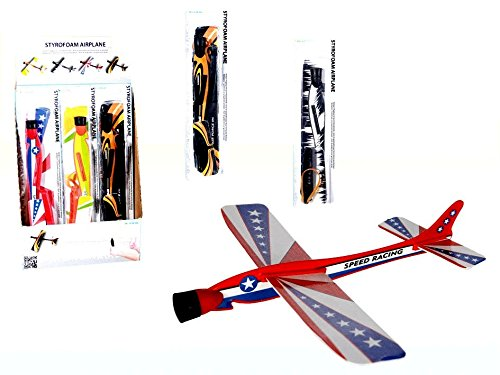 styrofoam-plane-with-rubber-band-assorted-colors-christmas-ideal-gift-stocking-filler-outdoor-activi