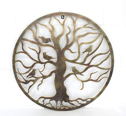 DARO DEKO Metall Wand-Bild Baum Ø 60cm