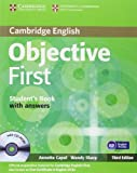 Objective First Student's Book with Answers with CD-ROM by Annette Capel (2012-11-26)