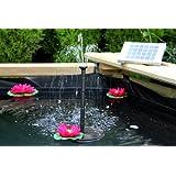 PK Green PKSF-2w kit, Solar Springbrunnen Teichpumpe, 2W Solarbrunnen Pumpe für Teich, Garten, Außen Wasserfall - Höhe: 0,70 m von PK Green