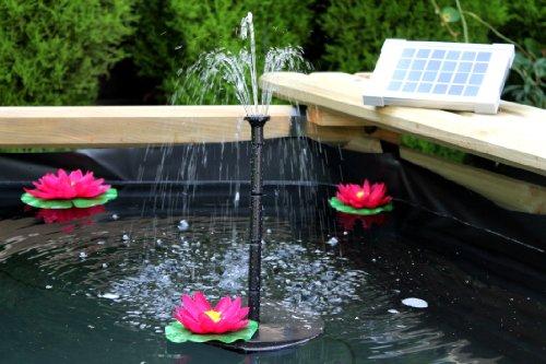 PK Green Pompa acqua solare / Fontana solare di 70 cm, 2W - per Laghetto, Giardino