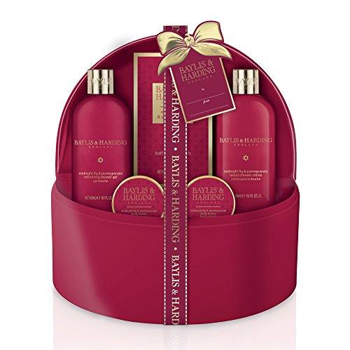 Baylis & Harding minuit fig & Grenade bain traite en gros rouge Etui