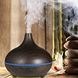 Aromatherapy Essential Oil Diffuser, Merit 300 Milliliter Wood Grain Humidifier Cool Mist with LED Color Changing and Timer Settings for Home, Baby Room, Office, Yoga, Spa