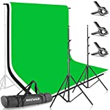 Neewer® 8.5ft*10ft/2.6M*3M Background Stand Support System with 6ft*9ft/1.8M*2.8M Backdrop (White,Black,Green) for Portrait, Product Photography and Video Shooting