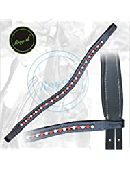 Royal Designer Transparent White & Red linked U-Shaped Crystal Brow Band.