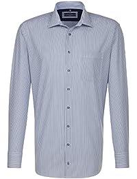 SEIDENSTICKER Herren Hemd Comfort 1/1-Arm, extra lang Bügelfrei Streifen City-Hemd Kent-Kragen Kombimanschette weitenverstellbar