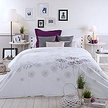 Sancarlos - Funda nórdica blanca taraxa blanca - diseño bordado - bajera ajustable - varias tallas disponibles