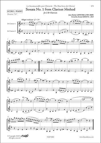 PARTITION CLASSIQUE - Sonate No. 1 de la...