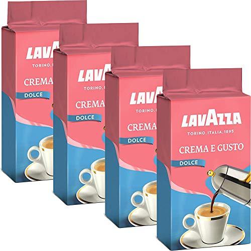 Lavazza Kaffee Crema e Gusto Delicato, gemahlener Bohnenkaffee (4 x 250g)