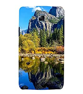 printtech Nature View Mountains Back Case Cover for Samsung Galaxy A8::Samsung Galaxy A8 A800F