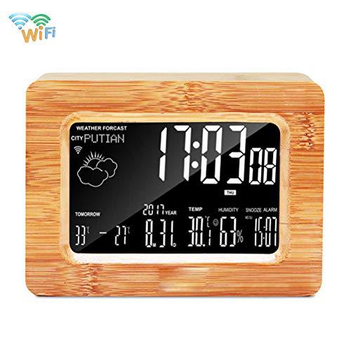 ORPERSIST Smart Wecker Wireless Wetterstation Mit LED-Anzeige Temperaturanzeige