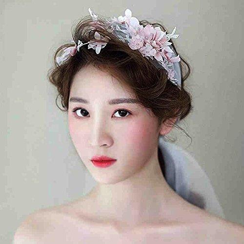 Braut Kopfschmuck Simulation Blume Schleier kurzen Punkt Brautkleid Haar mit Zubehör