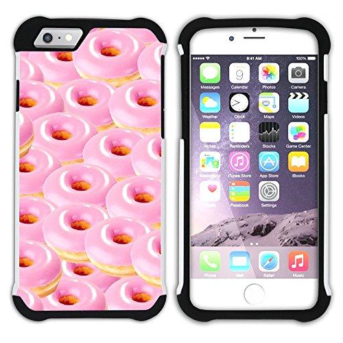 Graphic4You Gesüßt Krapfen Doughnut Hart + Weiche Kratzfeste Hülle Case Schale Tasche Schutzhülle für Apple iPhone 6 / 6S Design #21