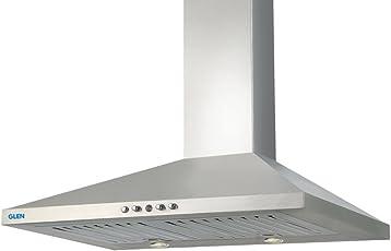 Glen 60cm 1000 m3/hr Chimney (LTW, 2 Baffle Filters, Steel/Grey)