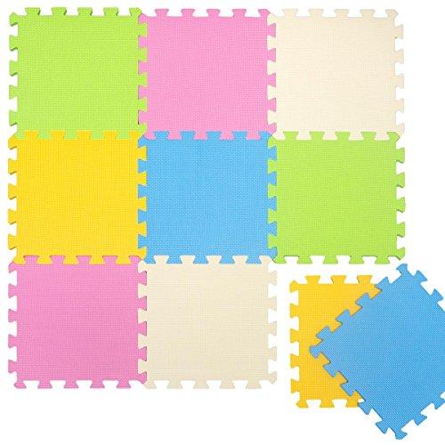 LittleTom Puzzle-Matte Spielteppich, Pastellfarben