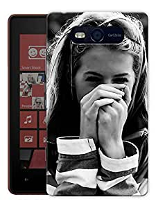 """Humor Gang Girls Are Prettiest Printed Designer Mobile Back Cover For """"Nokia Lumia 820"""" (3D, Matte Finish, Premium Quality, Protective Snap On Slim Hard Phone Case, Multi Color)"""