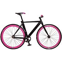 Kamikaze Bicicleta Fixie Aluminio derail rd42 M 52 Negra/Rosa
