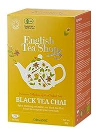 English Tea Shop Chai Organic, 20 Sachet Tea Bags, Black
