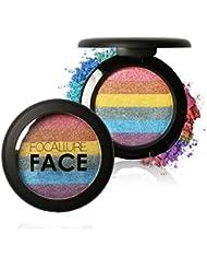 Bonjouree Fard à Paupières Palette Rainbow Pailleté et Professionnel