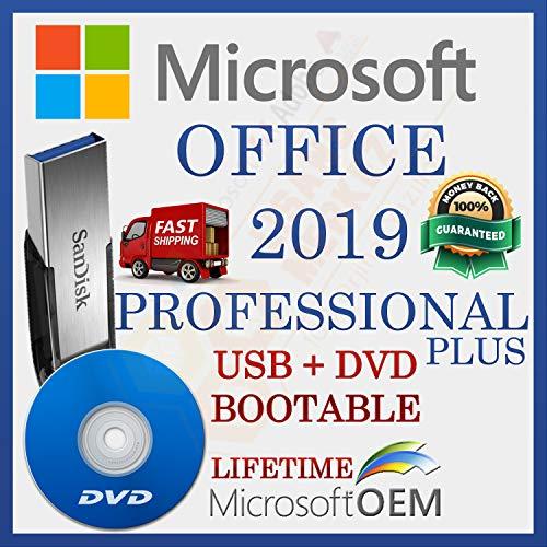 MS Office 2019 Pro PLUS | Unità USB + DVD | Con fattura | 32/64 bit | Versione completa | Spedizione veloce | NUOVO | Lingua : Italiano |
