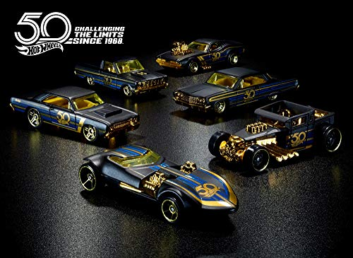 (Hot Wheels FRN33 50th Anniversary Black & Gold Themed Sortiment)