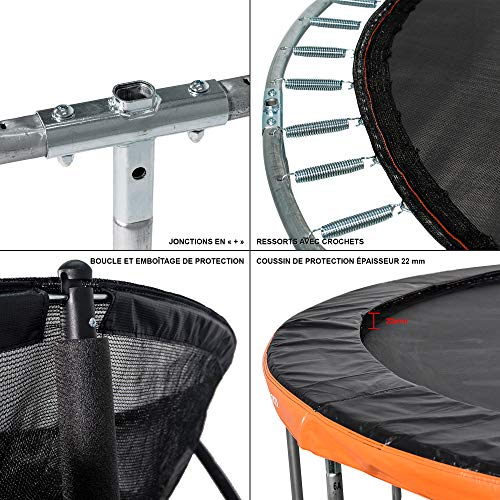 Zoom IMG-2 greaden trampolino da giardino rotondo