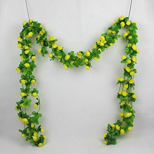 Jackie 5Stück Künstliche Rose Girlande Silk Flower Vine für Valentine Home Hochzeit Garten Dekoration (Valentines Künstliche Rose)