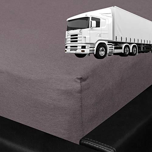 G BETTWARENSHOP Spannbettlaken für LKW Truck Matratzen Graphit, 75x200 cm - Matratze Lkw
