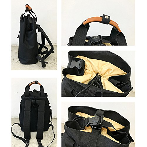 Youthgo Uniset Massive zaino casual zaino Business zaino impermeabile Lightweright borsa a mano per viaggio campeggio escursionismo, Black Black