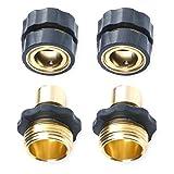 lzndeal 1 par de grifos de jardín Conector estándar Conexiones de tubería de conexión rápida Manguera