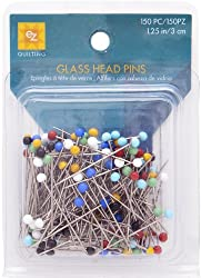 EZ Quilting 150-Piece Glass Head Pins