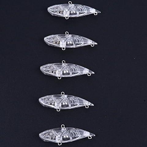 Aorace 20pcs/lot 6.5cm 9g Fishing Lure Blank Unpainted Lipless Trap