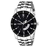 Espoir Analog Stainless Steel Day and Date Black Dial Men's Watch - BahuHammer