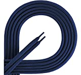 Ladeheid Qualitäts-Schnürsenkel aus 100% Polyester LAKO1001 (navy83, 130cm)