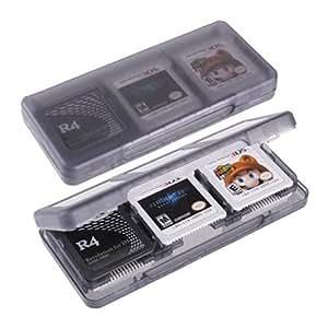 VCOER Lichtgrau 3DS-Spiel Patronentasche 3DSLL Patrone 6 in 1 Spielkassette Aufbewahrungsbox NDS Burn-Karte Feld 3DSll Plastic Crystal Hard Case Protective Cover Für Nintendo 3DS