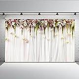 Mehofoto Blumenvorhang Bridal Shower Hintergrund 7x5ft Floral Wall Lilac Hochzeit Zeremonie Hintergrund Seamless Newborn Baby Fotografie Kulissen