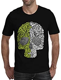 Black Cotton Round Neck T-Shirt For Men's/Boy's Half Sleeves Graphic Printed Tees Casual Tshirt By Oneliner Clothing