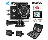 WiMiUS Action-Kamera 4K Action Cam 1080P 16MP Sport Action Kamera Wasserdichte Helmkamera