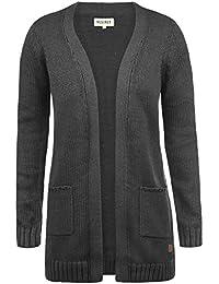 DESIRES Paula Damen Strickjacke Cardigan mit offenem V-Aussschnitt aus hochwertiger Baumwoll-Mischung