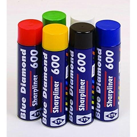 PINTURA equipo línea marcador pintura 600ml para sharpliner & Fox Valle máquina, blanco, talla