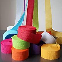 My Party Suppliers Decorative Ribbon Crepe Paper Streamer Roll - Pack of 12