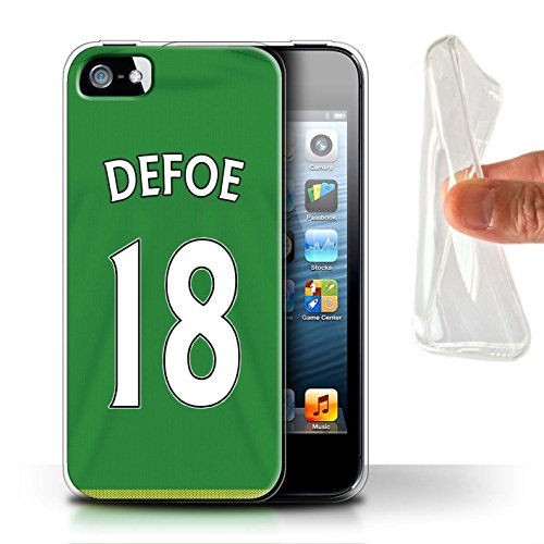 Offiziell Sunderland AFC Hülle / Gel TPU Case für Apple iPhone SE / Pack 24pcs Muster / SAFC Trikot Away 15/16 Kollektion Defoe