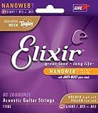 Elixir Nanoweb Acoustic 11027 custom light 11-52 NEW 11182 HD Light (13-53)