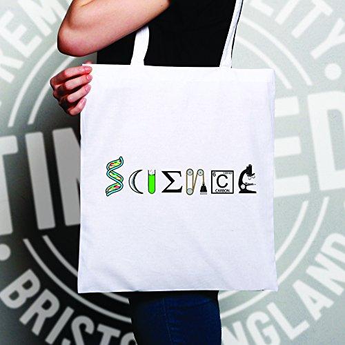 Scienza! Perché è freddo ora, Nerdy Logo Geeky disegno stampato Sacchetto Di Tote Natural