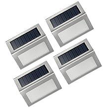 4 Packs LED luces Solares al aire libre de VicTsing , hasta 12-14 Horas usar Para Paisaje Planta Jardín pared moderna Fixture,escaleras, caminos, cubierta, patio, jardín, Etc. - Blanco