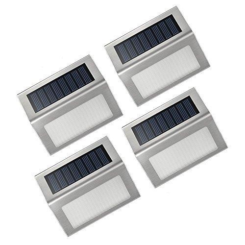 4 Packs LED luces Solares al aire libre de VicTsing , hasta 12-14 Horas usar Para Paisaje Planta Jardín pared moderna Fixture,escaleras, caminos, cubierta, patio, jardín, Etc. -