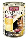 Animonda Carny Senior Katzen-/Nassfutter Rind und Huhn mit Käse für ältere Katzen, 6er Pack (6 x 400 g)